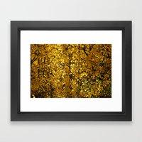 Inside A Golden Aspen Fo… Framed Art Print