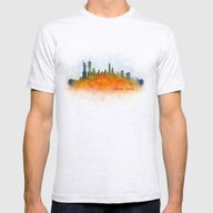 New York City Skyline Hq… Mens Fitted Tee Ash Grey SMALL
