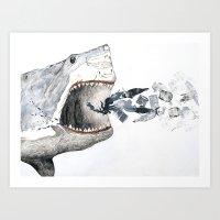 Shark Vs. Misc. Art Print