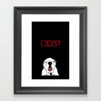 Derp 3 Framed Art Print