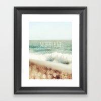 Beach - My Happy Place Framed Art Print