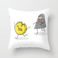 RUN CHEESE WHEEL! Throw Pillow