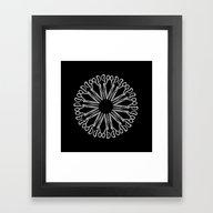 Framed Art Print featuring Scissor Eye by Emma Anna