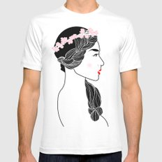 Cherry Blossom Girl. SMALL White Mens Fitted Tee