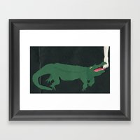 Alligators Under The Bed Framed Art Print
