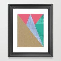 Cardboard & Combo Stripe… Framed Art Print
