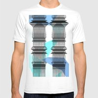 PIPELINE TOWERS Mens Fitted Tee White SMALL