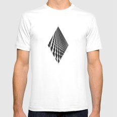 Waves of Iron Mens Fitted Tee White SMALL