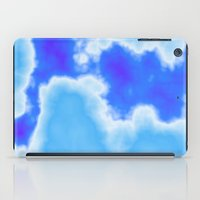 powder blue and indigo sky iPad Case