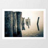 Foggy Ocean Art Print