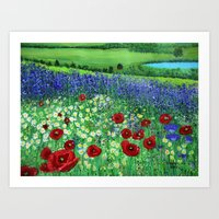 Blooming field Art Print