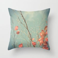 The Winter Days of Autumn Throw Pillow