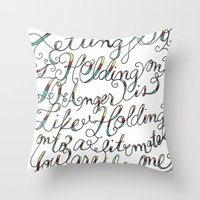 The Art of Letting Go Throw Pillow