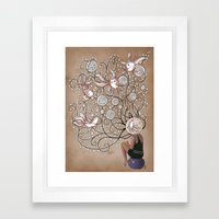 Mindblown. (fishbowl) Framed Art Print