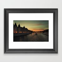 Seine River Framed Art Print