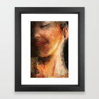 Night Pose Framed Art Print