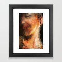 Night Pose Framed Art Print