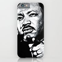 iPhone & iPod Case featuring Martin Luther the King by D77 The DigArtisT