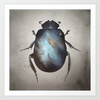 Galaxy Scarab Art Print