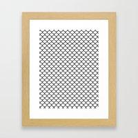 Simple Scales Framed Art Print