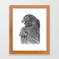 Bear Owl Framed Art Print