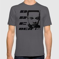 DRE BEATS Mens Fitted Tee Asphalt SMALL