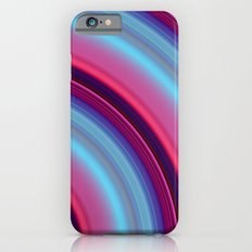 Curved Streaks of pink and blue iPhone 6 Slim Case