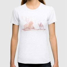Watercolor landscape illustration_Egypt Womens Fitted Tee Ash Grey SMALL