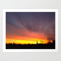 40 Foot Sunset Art Print