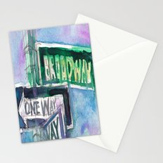Broadway Sign Stationery Cards