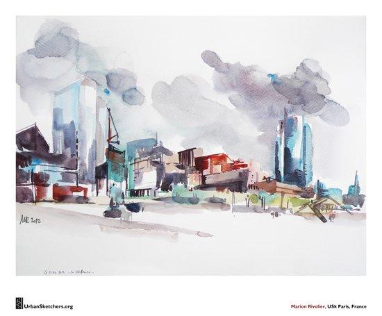"Marion Rivolier, ""La Défense"" Art Print"