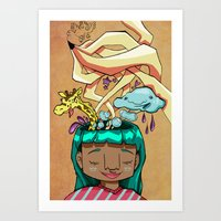 Overflowing thoughts  Art Print