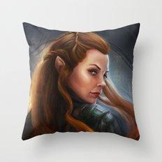 Tauriel Throw Pillow