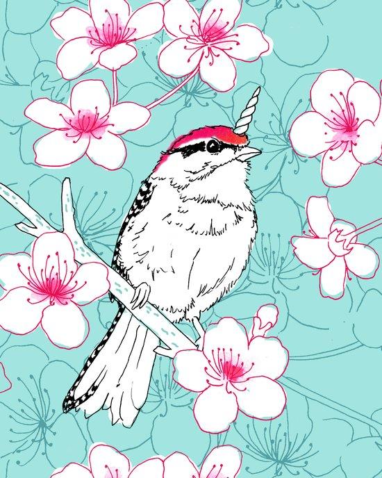 Uni-Chicka-Pecker Art Print