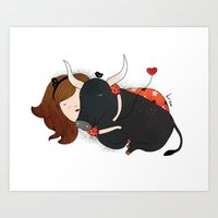 Embrace the Bull Art Print