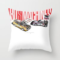 80's Machines Throw Pillow