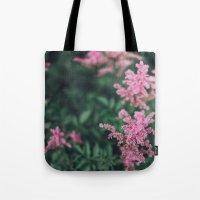 Pink Wild Flower Tote Bag