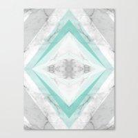 marble rhombus Canvas Print