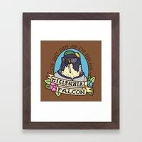 Millennial Falcon Framed Art Print