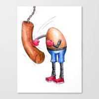Egg Boxer Canvas Print