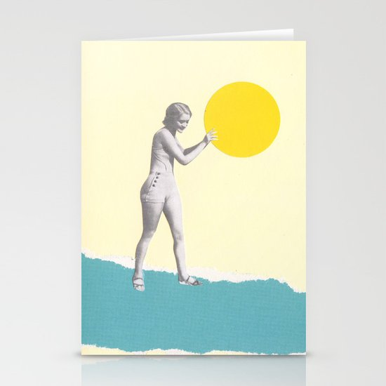 She Caught the Sun Stationery Card