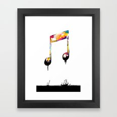 Feelings behind the darkness Framed Art Print