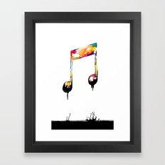 Feelings behind the darkness Framed Art Print