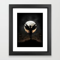 Lost in the world of humanity Framed Art Print