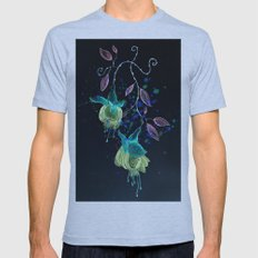 flower earrings Mens Fitted Tee Athletic Blue SMALL
