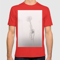 Fading To Light Mens Fitted Tee Red SMALL