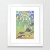 Solarized Burst Framed Art Print