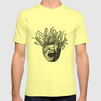 Tentaface Mens Fitted Tee Lemon SMALL