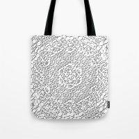 mandala curls Tote Bag