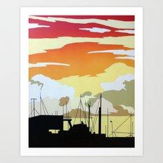 Penzance Harbour Art Print
